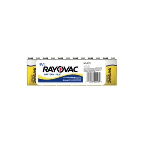 Ray-O-Vac 9V Zinc Chloride Batteries w/ Snap Connectors