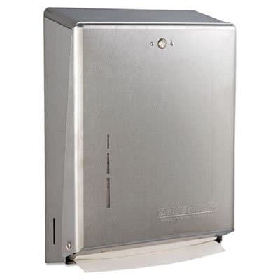 San Jamar Satin Stainless Steel Combination Cabinet for C-Fold/Multifold