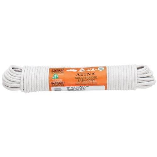 Samson Rope White Cotton Synthetic Sash Cords