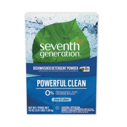 7th Generation Free and Clear Scented, Biodegradeable Powdered Dishwasher Detergent-45-oz
