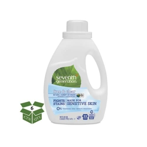 7th Generation Unscented Natural 2X Concentrated Laundry Liquid 50 oz