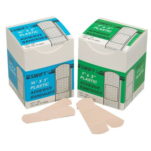 """Swift First-Aid Fingertip """"T"""" Fabric Adhesive Bandages"""