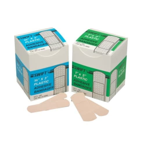 """Swift First-Aid 3/4"""" X 3"""" Woven Fabric Strips Adhesive Bandages"""