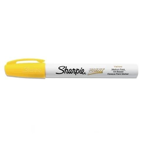 Oil-Based Paint Marker, Medium Tip, Yellow