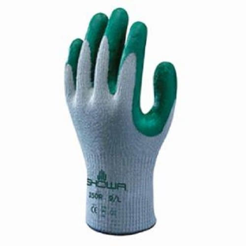 SHOWA Green/Gray Large Atlas Fit 350 Nitrile-Coated Gloves