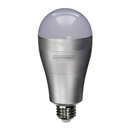 SmartCharge 8W Rechargeable Emergency LED Light Bulb, A21, 630 lm, 2700K