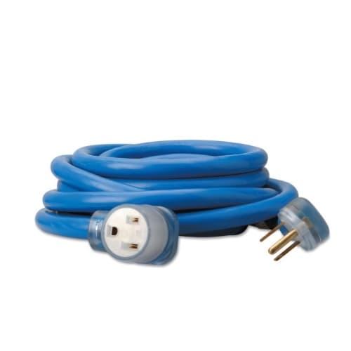 50-ft Welder Extension Cords, 250V,  Blue