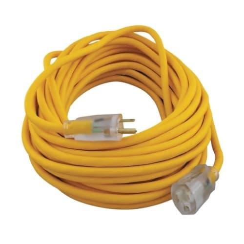 50-ft Polar/Solar Extension Cord, Yellow