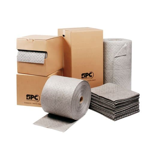 """SPC 15""""X19"""" Perforated Oil Sorbent Pads"""