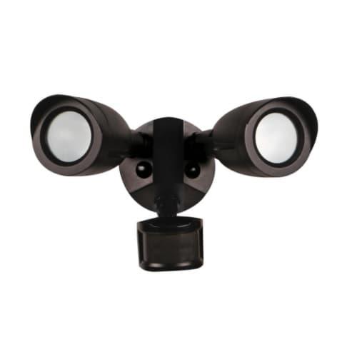Nuvo 20W LED 2 Bullet Head Security Light w/Motion Sensor, 3000K, Bronze