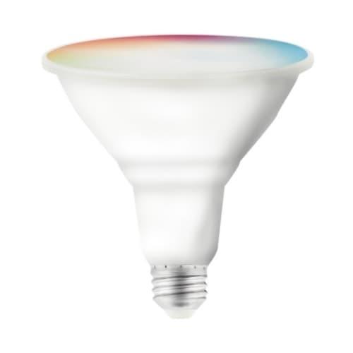 Satco 15W Smart LED PAR38 Bulb, E26, 1200 lm, 120V, RGB & Tunable White