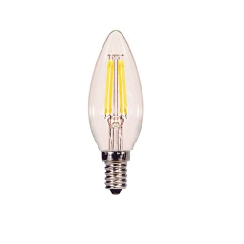 4.5W LED B11 Bulb, 40W Inc. Retrofit, Dim, E12 Base, 350 lm, 2700K