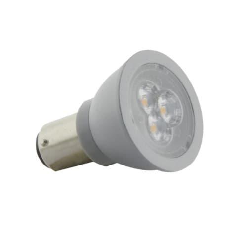 Satco 3W LED Elevator Bulb w/ BA15d Base, 220 lm, 12V, 3000K