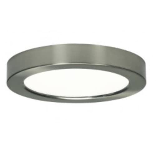 10.5W Round 5.5 Inch LED Flush Mount, Dimmable, 3000K, Brushed Nickel
