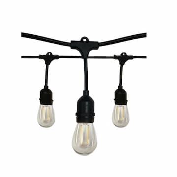 Satco 24-ft 12W Decorative LED String Lights, E26, 100 lm, 120V, 2700K