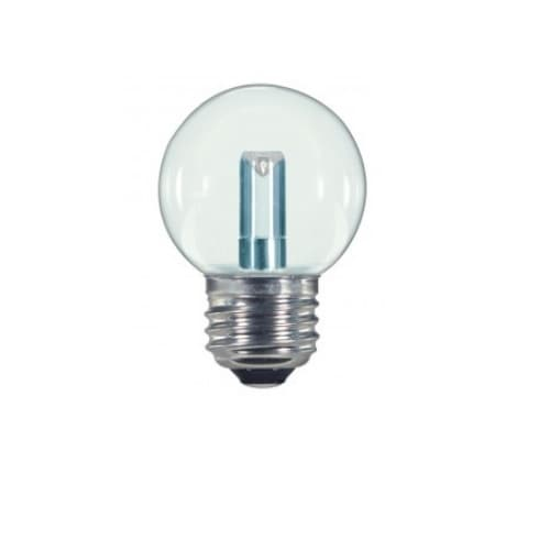 Satco 1.2W LED S11 Specialty Indicator Clear Bulb, 2700K