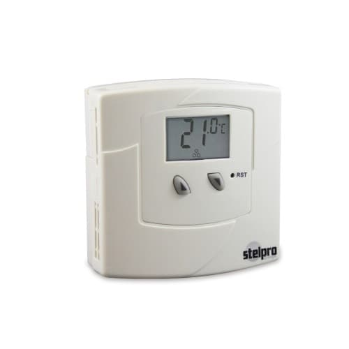 Low Voltage Electronic Thermostat, 24V Output, White