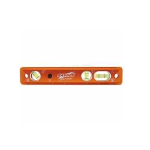 """Swanson Tools 9"""" Magnetic Luminated Levels, Aluminum, 3 Vials"""
