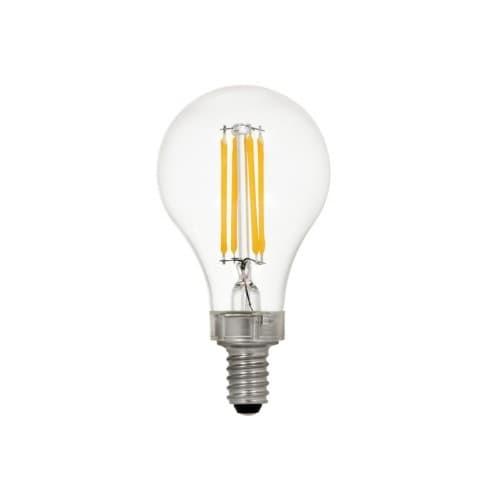 LEDVANCE Sylvania 5.5W LED A15 Bulb, Dimmable, E12, 450 lm, 120V, 2700K, Clear