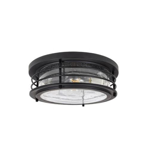LEDVANCE Sylvania 8.5W LED Andover Flush Mount w/ Seeded Glass, 2 Lights, Dim, 1600 lm, 2700K, Black