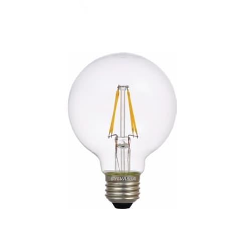 LEDVANCE Sylvania 4.5W Filament LED G25 Bulb, 40W Inc. Retrofit, Dim, E26, 450 lm, 120V, 2700K