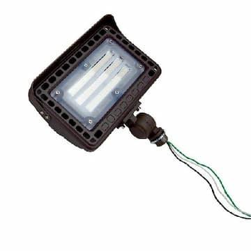 15W LED Flood Light w/ Knuckle Mount, 1650 lm, 5000K, Bronze