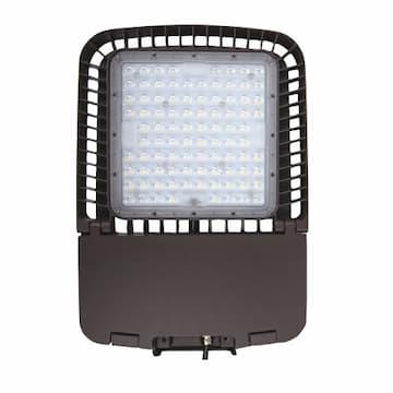 100W LED Area Light, Type III, Forward, 120V-277V, 5000K, Bronze