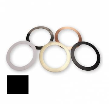 """TCP Lighting 6"""" Black Trim Ring for DeLux Snap-In Downlights"""