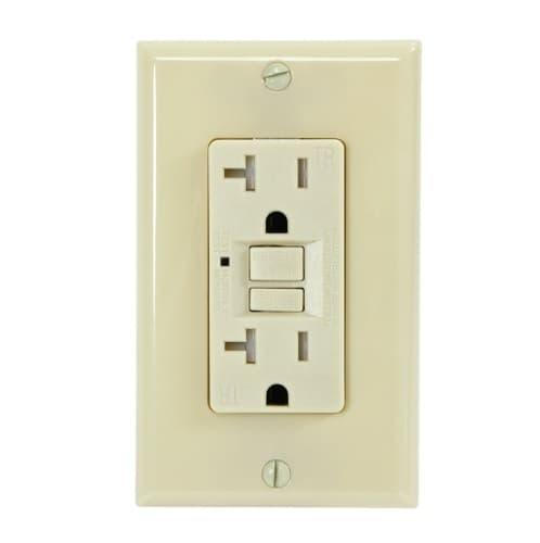 USI 20 Amp GFCI Outlet, Tamper Resistant, Ivory