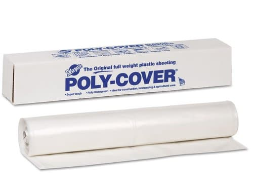 Warp Poly-Cover Plastic Sheets, 4 Mil., 10 x 100, Clear