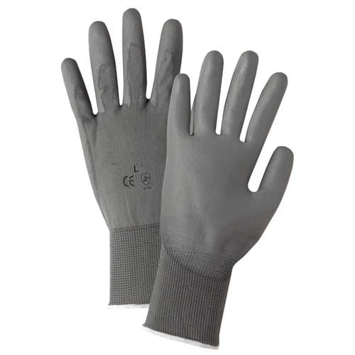 West Chester Extra Large Gray Polyurethane Coated Gloves