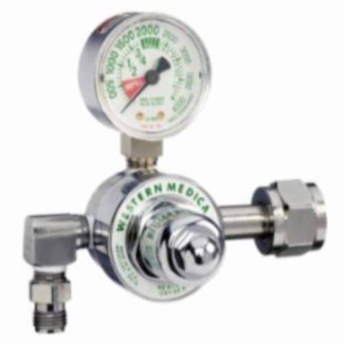 Western M1 Series Preset Pressure Gauge Regulators, CGA540 Nut/Nipple, Oxygen