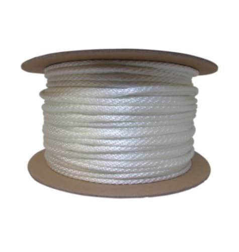 500-ft Braided Nylon Rope, .25-in Diameter, 1238 lb Load Capacity, White