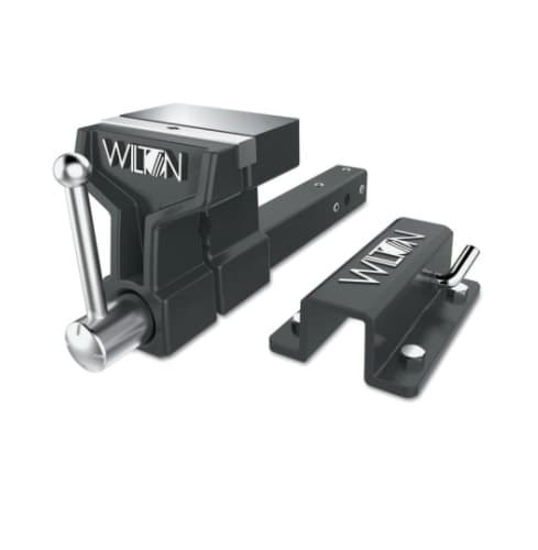 6-inch All-Terrain Vise w/ Stationary Base & 5-in Throat