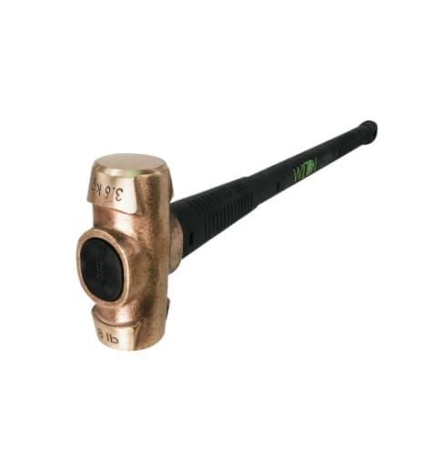 Wilton 30-in B.A.S.H Brass Hammer w/ Unbreakable Handle, 8 lb Head