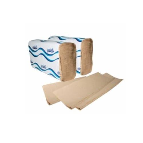 Windsoft Single Folded Hand Towels, Brown