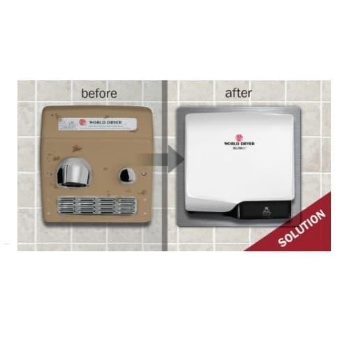 Retrofit Kit for SLIMdri Hand Dryer, Stainless Steel