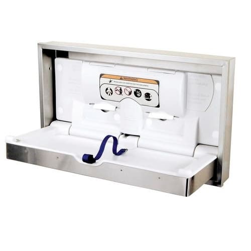 """38"""" DryBaby Baby Changing Table, Stainless Steel"""