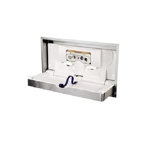 DryBaby Recessed-Mounted Horizontal Changing Station, Stainless Steel
