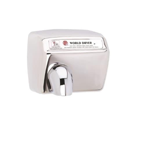 World Dryer 2300W Standard Hand Dryer, Model XA, 240V