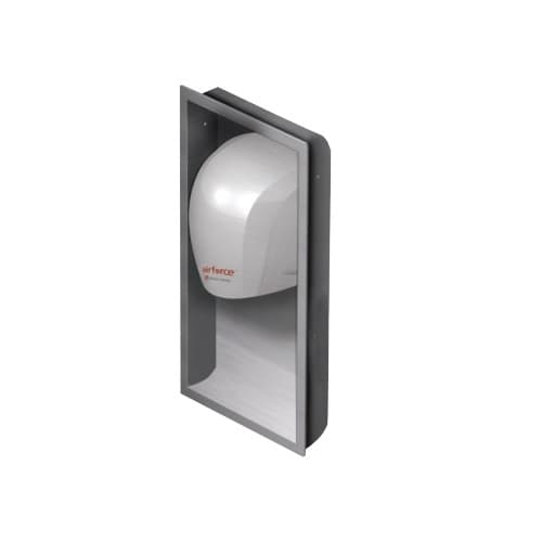 World Dryer AirForce Optional Recess Kit, Stanless Steel, Brushed Finish