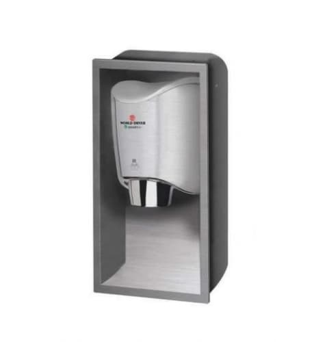 World Dryer SMARTdri Stainless Steel Recess Kit