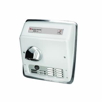 World Dryer 2300W AirMax Hand Dryer, 115V, Cast Iron, White Finish