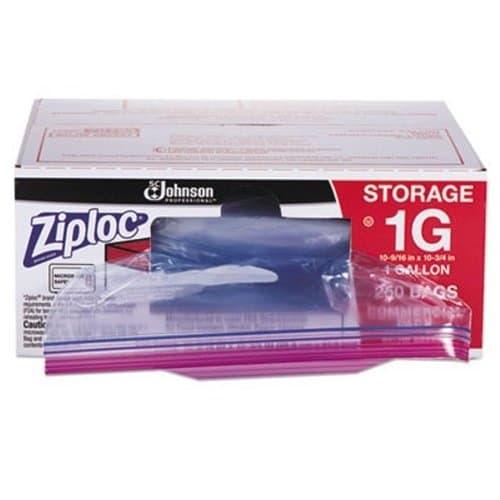 Ziploc 1 Gal. Double Ziploc Bags, Plastic