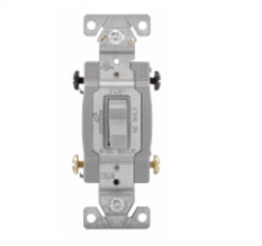 15 amp toggle switch 4way commercial gray