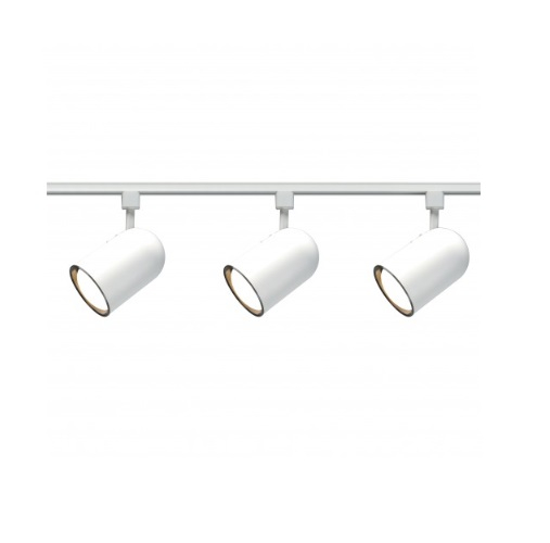 Nuvo 3 Light Track Light Kit R30 Bullet Cylinder White Nuvo Tk322 Homelectrical Com