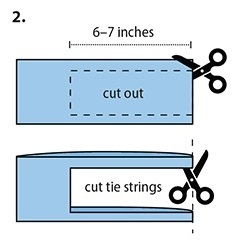 What portion to cut out of t-shirt section