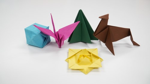 Examples of Christmas origami
