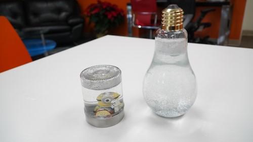 Completed jars on display