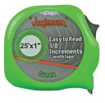 "1""X25' Green E-Z Read Power Measuring Tape"